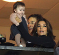 Victoria and Eva Longoria with Harper 7