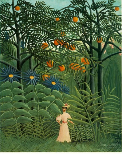Woman in an Exotic Forest - Henri Rousseau