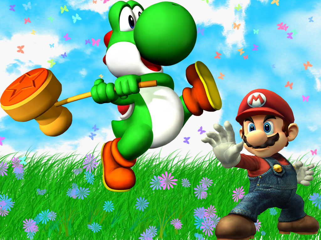 Yoshi images Yoshi and Mario HD wallpaper and background photos
