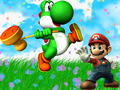 yoshi - Yoshi and Mario wallpaper