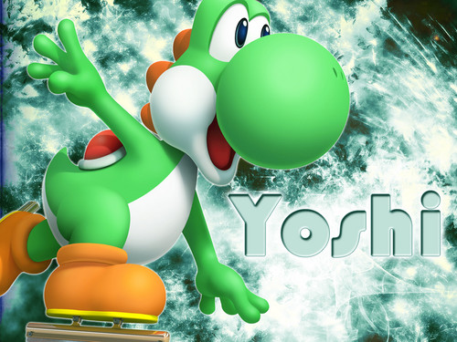 Yoshi wallpaper possibly containing a meteorological balloon and an easter egg called Yoshi