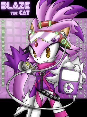 Blaze the Cat wallpaper probably containing anime titled blaze and her ipad