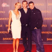 claire holt with daniel gillies and joseph morgan - claire-holt Photo