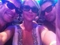claire holt with daniel gillies and joseph morgan