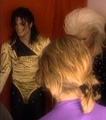 dangerous tour back stage - michael-jackson photo