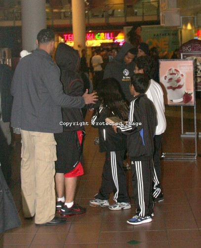 prince Paris and blanket Jackson out to the movie's with cousins