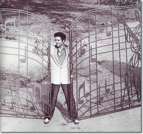 ☆ Elvis at the gates of Graceland - elvis-presley Photo