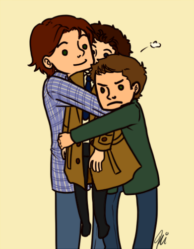 ☆ Group Hug - supernatural Fan Art