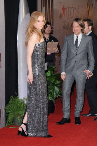Nicole and Keith at the 45th Annual CMA Awards