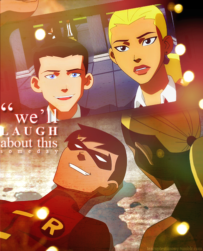 Young Justice Artemis and Robin wallpaper titled AWWW!!!!