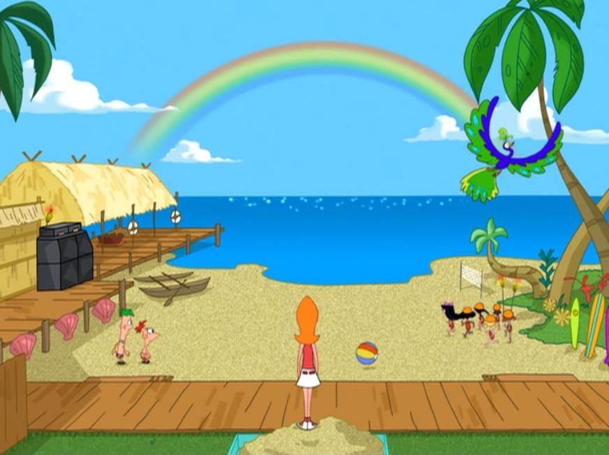 phineas flynn images backyard beach hd wallpaper and background photos