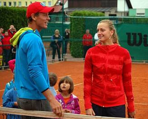 Berdych and Kvitova match colour - petra-kvitova Screencap