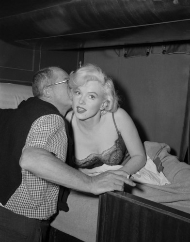 Billy Wilder and Marilyn Monroe - Some Like It Hot Set