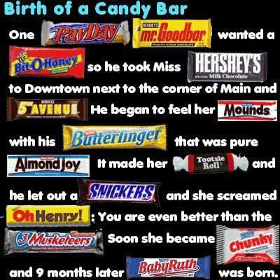 Birth of a キャンディー Bar