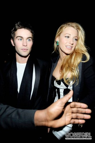 Blake & Chace at Versace for H&M Fashion Launch Party