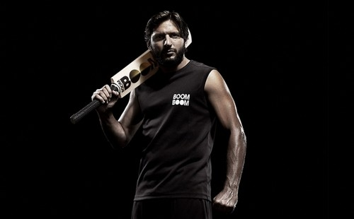 Shahid Afridi wolpeyper probably with a konsiyerto called Boom Boom