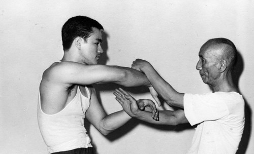 Bruce with Ip man - bruce-lee Photo