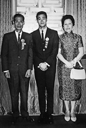 Bruce with his parents