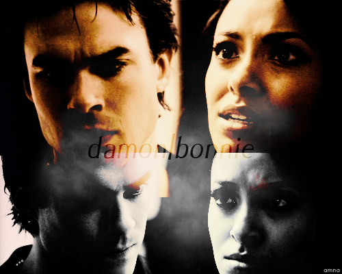 Bonnie's Multi Shippings wallpaper probably containing a portrait titled Damon and Bonnie