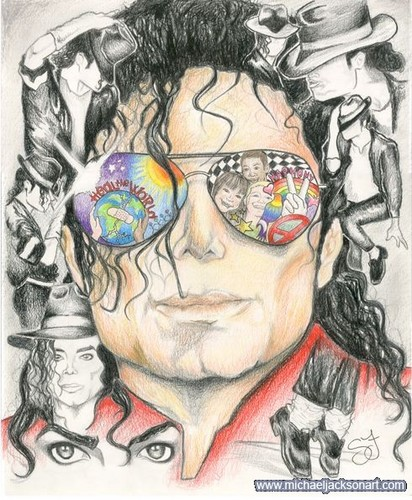 Michael Jackson achtergrond with anime called Dance To Heal the World
