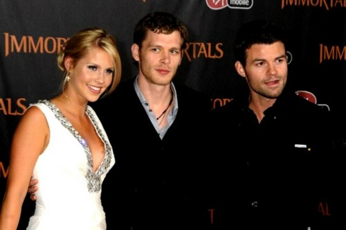 "Daniel Gillies, Claire Holt and Joseph モーガン, モルガン at The World Premiere of ""Immortals"""