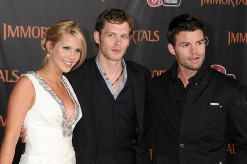 "Daniel Gillies, Claire Holt and Joseph مورگن at The World Premiere of ""Immortals"""