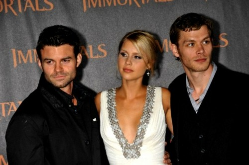"""Daniel Gillies, Claire Holt and Joseph Morgan at The World Premiere of """"Immortals"""""""