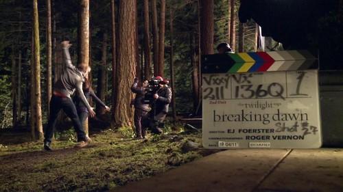 Detrás de Cámaras de Breaking Dawn (Amanecer)