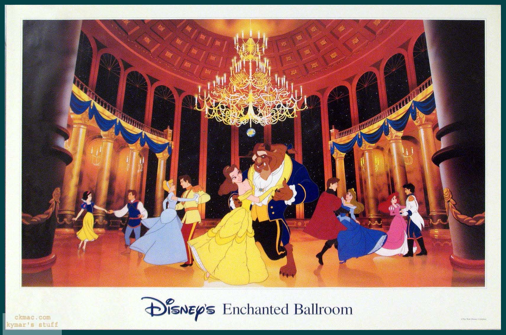 Disney 39 s enchanted ballroom disney princess photo for Disney princess ballroom wall mural