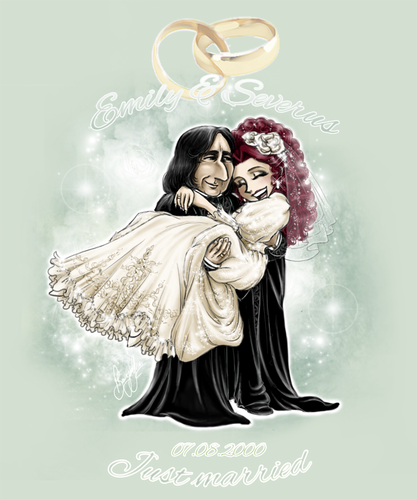 Emily +Severus - Wedding Chibis