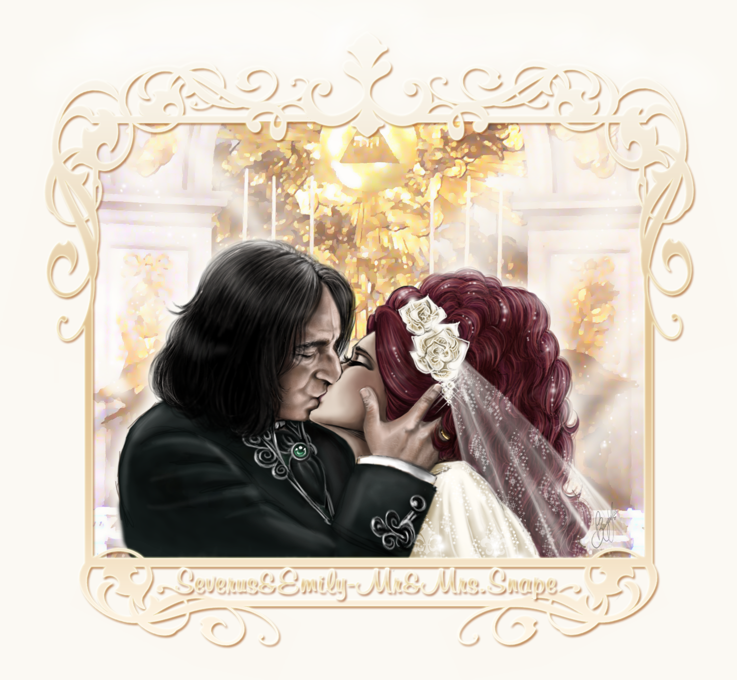 Alan Rickman secretly marries Emily-Severus-Wedding-Kiss-severus-snape-and-original-female-characters-26711092-1474-1361