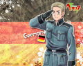 Germany saluting his flag!