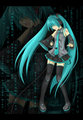 Hatsune Miku - anime fan art