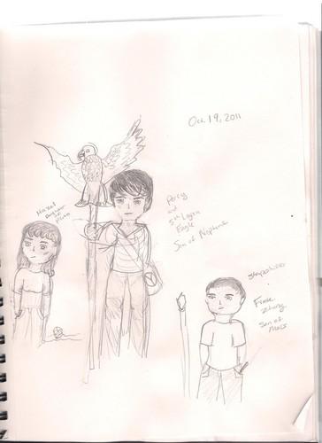 Hazel, Percy, and Frank