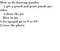 How to do drawing puzzles - sonic-x photo