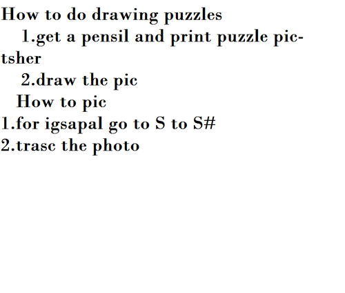 How to do drawing puzzles
