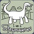 I am a Stegosaurus t-shirt logo
