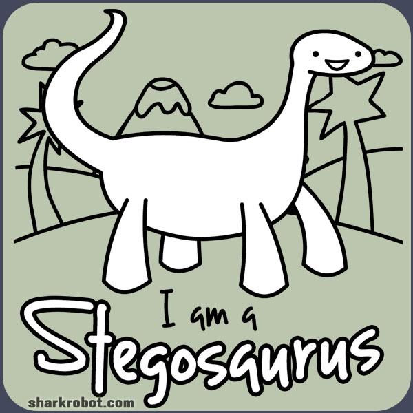 a Stegosaurus t-shirt logo I A Stegosaurus Shirt
