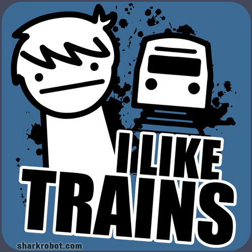 I like trains t-shirt logo