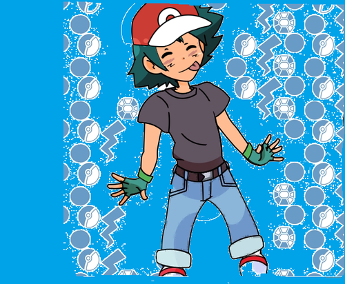 I made Ash Ketchum because he's special and i'm bored.