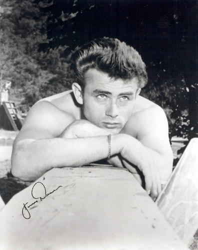 James Dean in a pool