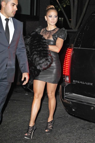 Jennifer Lopez arriving to the Glamour Awards after party