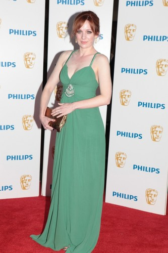 Katherine Parkinson wolpeyper possibly with a hapunan dress entitled Kate