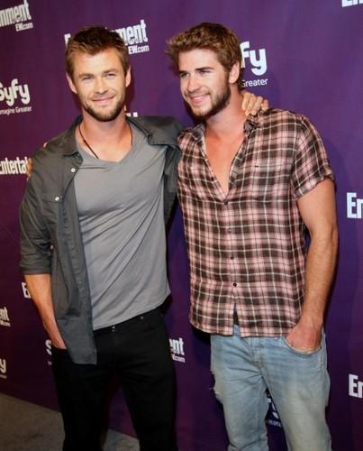 Liam Hemsworth and Chris Hemsworth