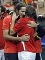 Lopez and Ferrer kiss - david-ferrer photo