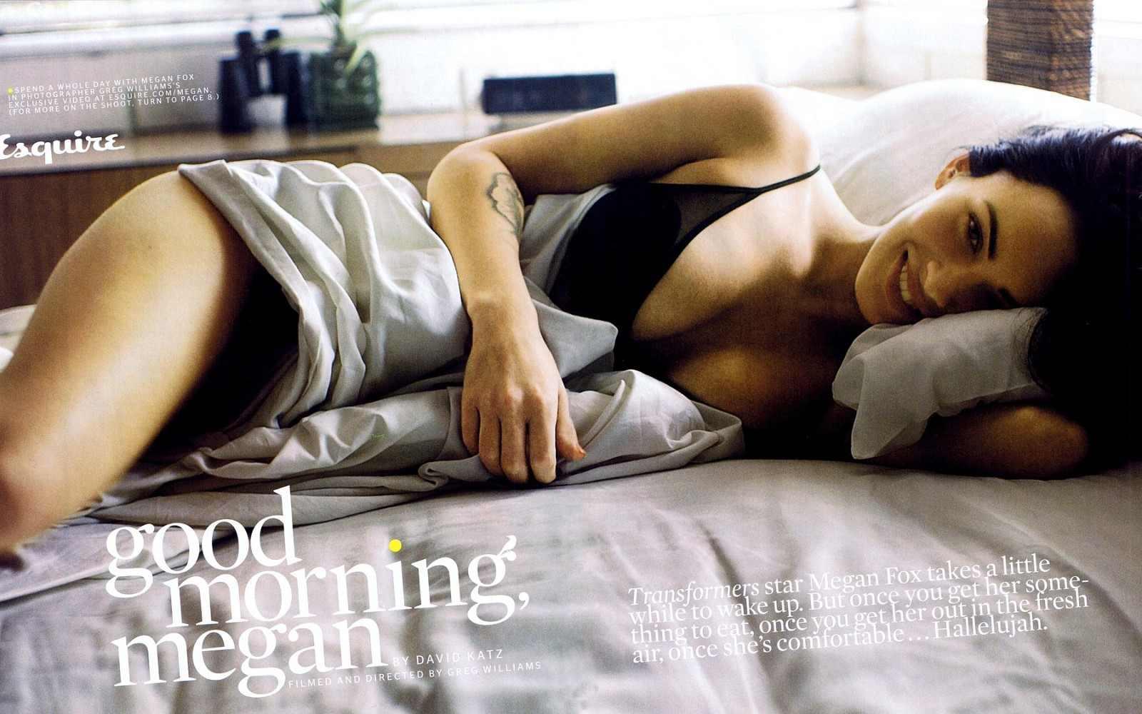 Megan rubah, fox in Esquire magazine