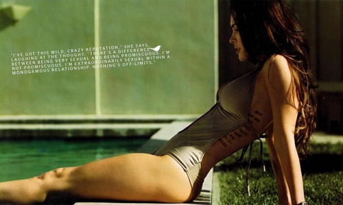 Megan fox, mbweha in Esquire magazine