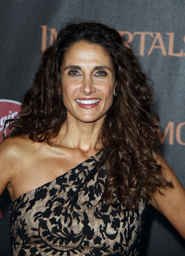 "Melina Kanakaredes arrives at ""Immortals"" premiere"
