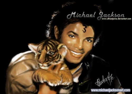 Michael holding a tiger