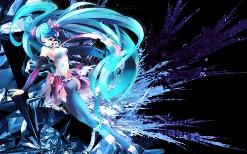 hatsune miku wallpaper probably with a bouquet called Miku Hatsune wallpaper